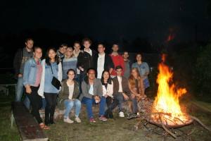 Members at the HanseMUN bonfire 2015